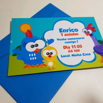 galinha pintadinha mini convite