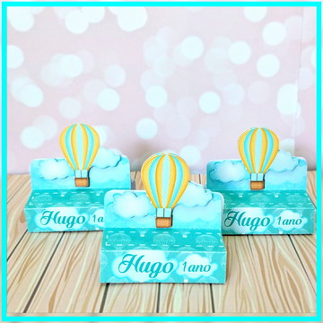 Porta Chocolate Duplo Balões