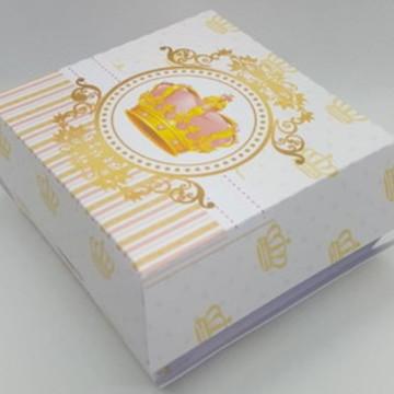 Caixa para mini hambúrguer - Princesa/Realeza