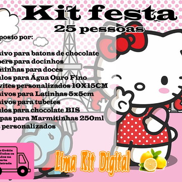 Kit Festa 25 Pessoas Hello kit