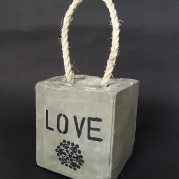 Peso de Porta Love em Concreto(Consulte prazo)