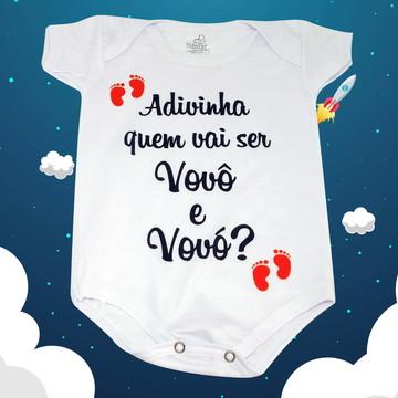 Body Baby Personalizado - Adivinha quem Vai ser Vovô e Vovó?