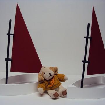 Barco de madeira mdf lembrancinha enfeite centro de mesa