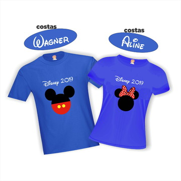 Camisetas Personalizadas Disney Mickey e Minnie