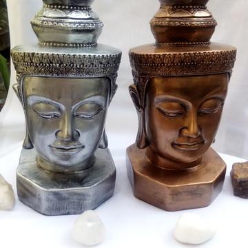 Cabeça de Buda Indiano em gesso- 27cm