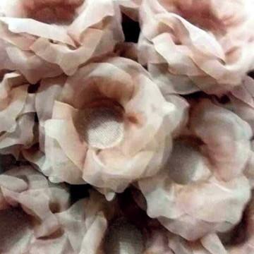 Forminha - Rosa lisa em tecido voil