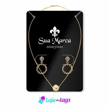 Tag Etiqueta e Cartela para bijuterias personalizado 10x7cm