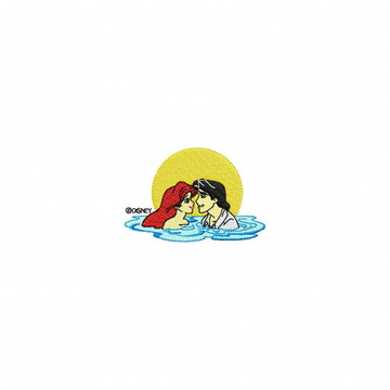 Matriz Bordado Ariel e o Príncipe Agulha Feliz Matrizes