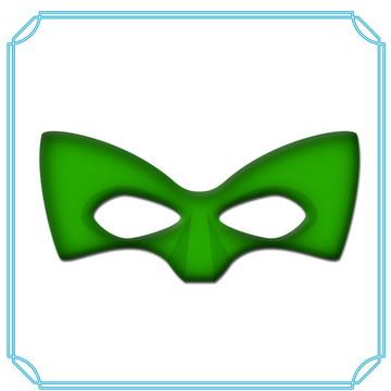 máscara lanterna verde ou Robbin
