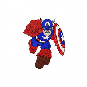 Matriz Bordado Capitão América Agulha Feliz Matrizes