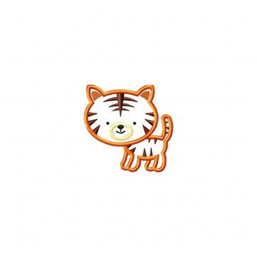 Matriz Bordado Tiger Agulha Feliz Matrizes