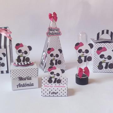 Kit Festa Panda 30 itens