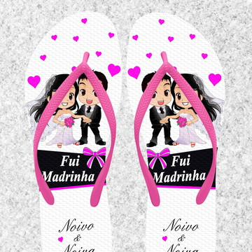 0dc3b9fe8 Chinelo Casamento Personalizado - MDL066