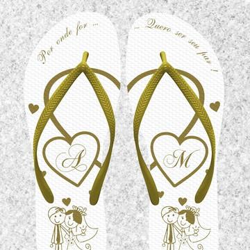 95e4535a2 Chinelo Casamento Personalizado - MDL086
