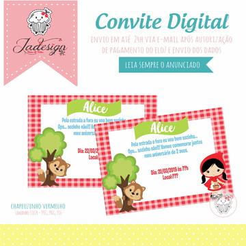 Convite Digital - Chapeuzinho Vermelho