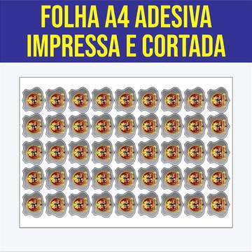 Folha Adesiva A4   Impressa e Cortada