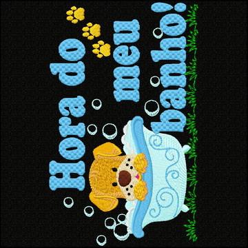 Matriz De Bordado bca 3885 Hora do banho Cachorro