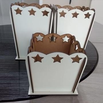 Cachepô Estrela Grande MDF Branco 3mm,