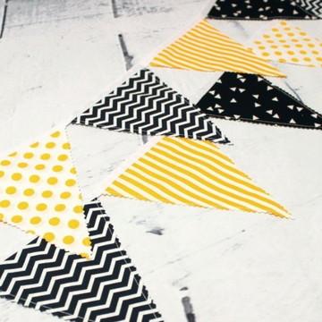 Varal de Bandeirinhas em Tecido decoração quarto de bebê