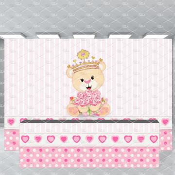 Super kit Ursa Princesa Painel + Fechamento de mesa