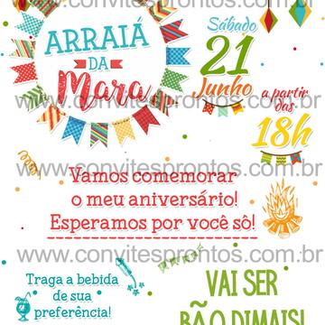 CONVITE FESTA JUNINA ARRAIÁ SÃO JOAO