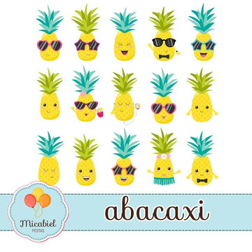 Clipart - Abacaxi
