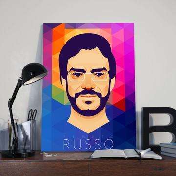 Quadro Poeta Renato Russo - Tamanho 30X40
