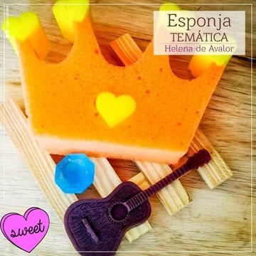 Lembrancinha de Elena de Avalor esponja tematica e sabonete