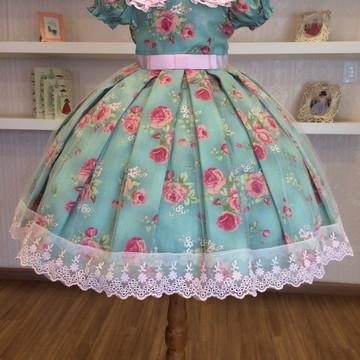 Vestido para Festa floral infantil