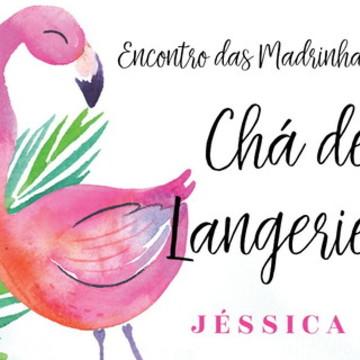 Convite Chá de Langerie Flamingo