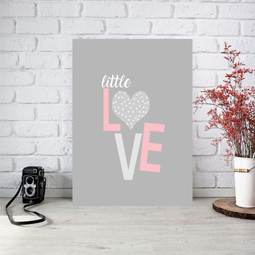 Poster digital arte para quarto infantil- Little Love