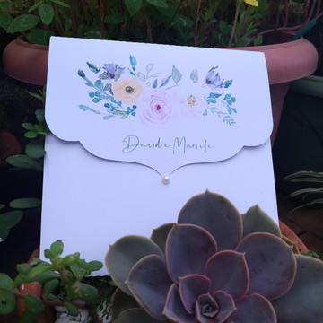 Convite de casamento romântico campo