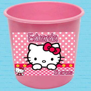 Balde de Pipoca Hello Kitty