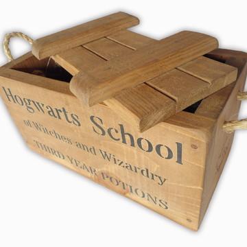 "Caixa de Magia comTampo Harry Potter Hogwarts ""M"" - 10%OFF"