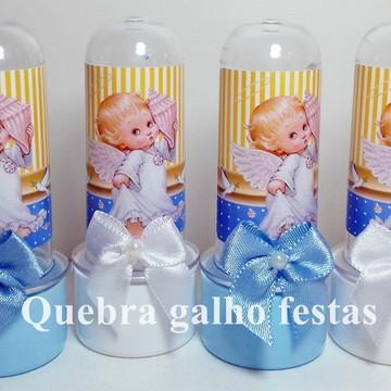 Mini Tubete Batizado Azul Lembrancinhas - Tubete 8CM