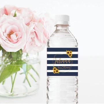 Rótulo para garrafa de água 500ml Girassol