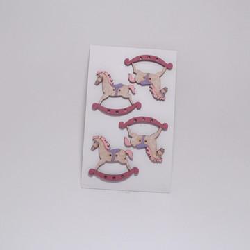 Botões cavalinhos de balanço rosa