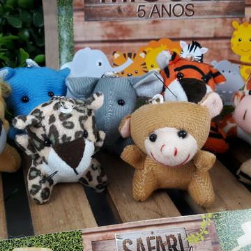 Safari Zoo Floresta Chaveiro + Embalagem Laço de Cetim