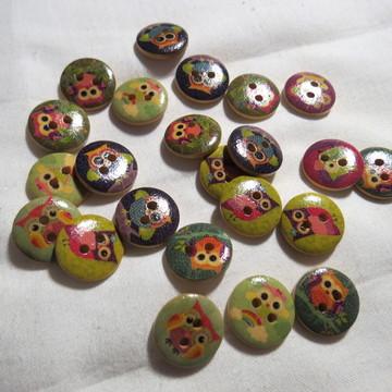 Mmix botões coruja * 1347