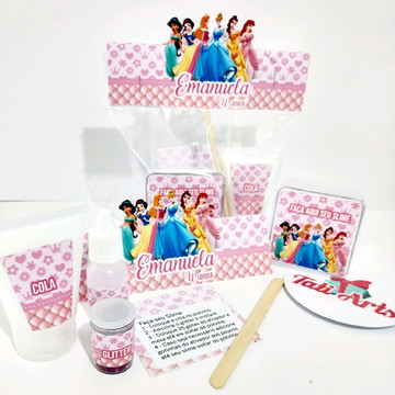 Kit Slime Princesas - Embalagens Personalizadas