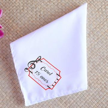 Guardanapo de tecido sublimado com texto - clave de sol