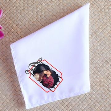 Guardanapo de tecido sublimado com foto - clave de sol