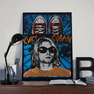 Quadro Kurt Cobain - Tamanho 30X40