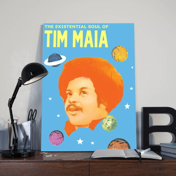 Quadro Poeta Tim Maia - Tamanho 30X40 cm