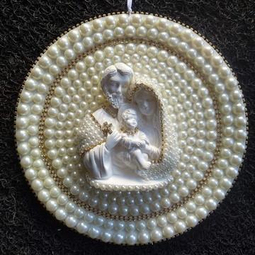Mandala Sagrada Família 25CM com pérolas
