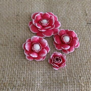 Flores scrapbook (kit khate)