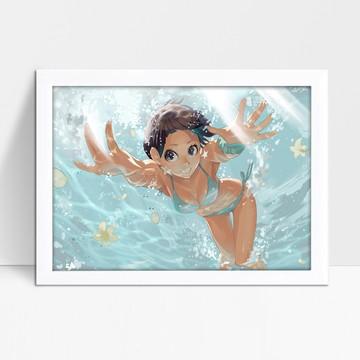 Quadrinho Anime Girl