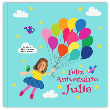 Livro FELIZ ANIVERSÁRIO ( menina )