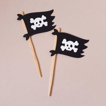Topper Bandeira Pirata