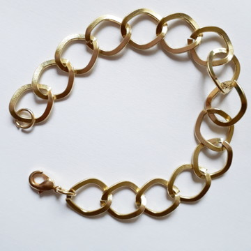 Pulseira com elos Folheado Ouro 18k semi joias